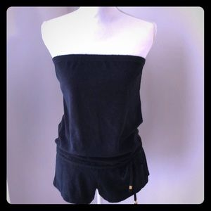 Rampage Swim Suit Terry Cloth Romper Cover up